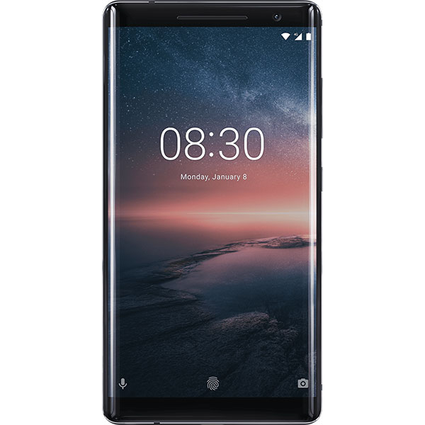 Telefon NOKIA 8 Sirocco, 128GB, 6GB RAM, Single SIM, Black