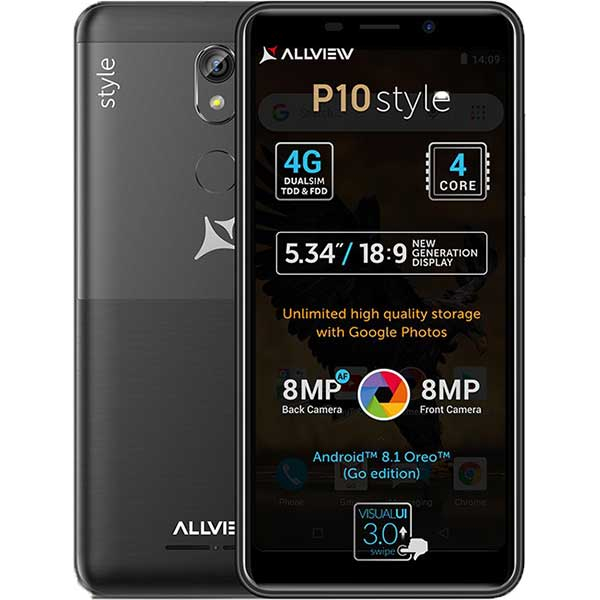 Telefon ALLVIEW P10 Style, 8GB, 1GB RAM, dual sim, Black