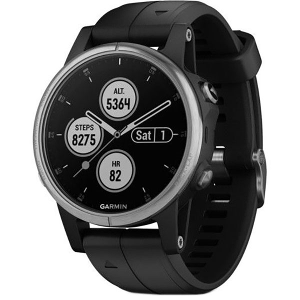 Smartwatch GARMIN Fenix 5S Plus Android/iOS, silicon, Silver/Black