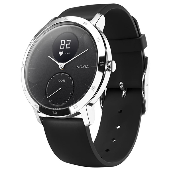 Smartwatch NOKIA Steel HR 40mm Android/iOS, silicon, negru