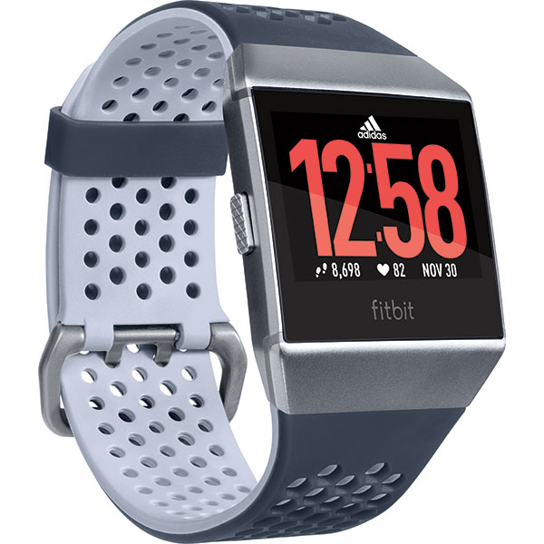 Smartwatch FITBIT Ionic, Adidas Edition, Android/iOS, silicon, Blue Gray