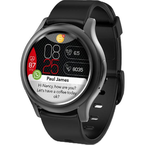 Smartwatch MYKRONOZ ZeRound3, Android/iOS, silicon, negru