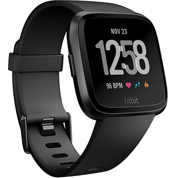 Smartwatch FITBIT Versa, Android/iOS, silicon, Black