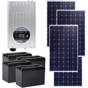 Kit Solar PNI GreenHouse SC3000 3000W, 24V MPPT, 4 acumulatori 100A, 4 panouri monocristaline 250W