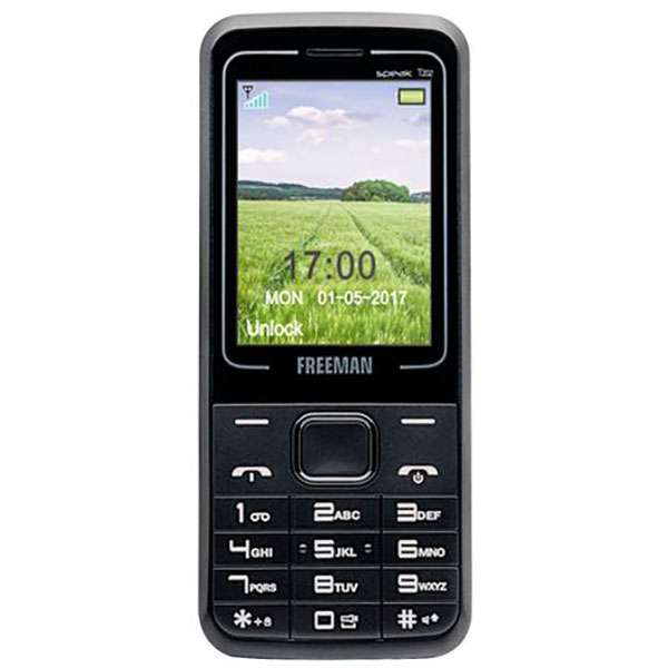 Telefon mobil Dual Sim FREEMAN SPEAK T202 E-BODA, Negru
