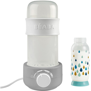 Incalzitor si sterilizator biberoane BEABA Baby Milk Second, gri