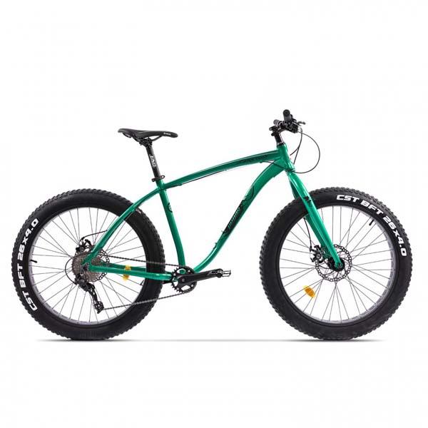 Bicicleta Fat Bike PEGAS Suprem FX 17 10S, Verde Smarald