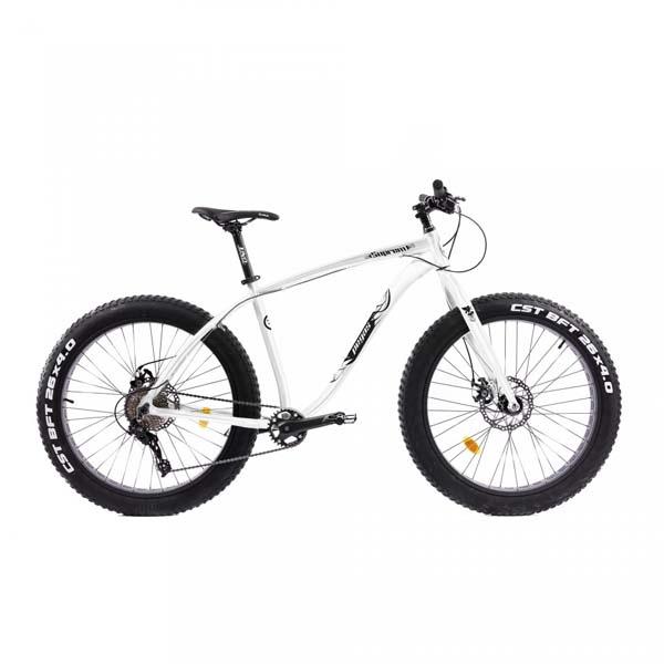 Bicicleta Fat Bike PEGAS Suprem FX 17 10S, Alb Perlat