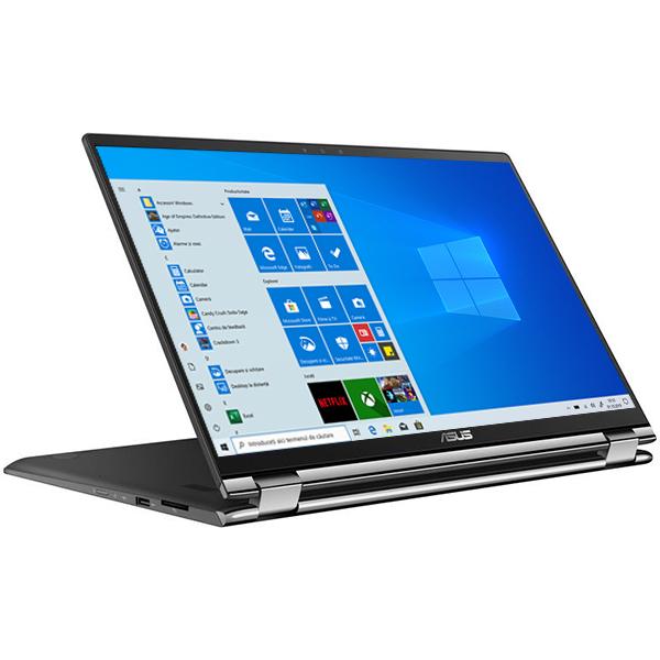 """Laptop 2 in 1 ASUS ZenBook Flip 15 UX562FD-EZ044R, Intel® Core™ i7-8565U pana la 4.6GHz, 15.6"""" Full HD Touch, 16GB, HDD 2TB + SSD 256GB, NVIDIA GeForce GTX 1050 MAX Q 2GB, Windows 10 Pro"""