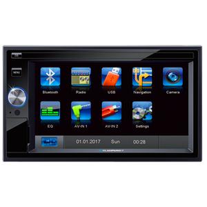 Media receiver auto BLAUPUNKT SantaCruz 370, Touch Screeen, BT, USB, negru