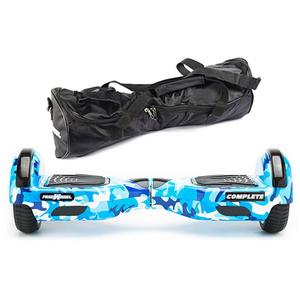Scooter electric FREEWHEEL Complete, 6.5 inch, viteza 15 km/h, motor 2 x 350W, camuflaj albastru + geanta transport cadou