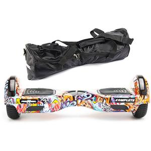Scooter electric FREEWHEEL Complete, 6.5 inch, viteza 15 km/h, motor 2 x 350W, graffiti albastru + geanta transport cadou