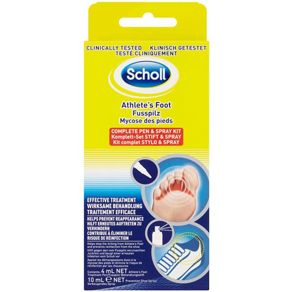 Set pentru micoza piciorului SCHOLL, Spray 10ml, Creion 4ml