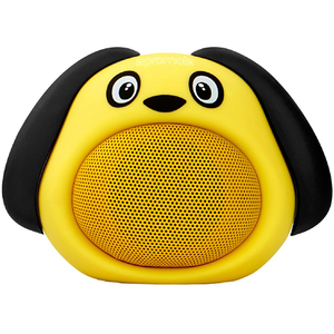 Boxa portabila pentru copii, PROMATE Snoopy, Bluetooth, galben