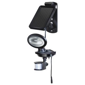 Lampa solara cu senzor de miscare BRENNENSTUHL SOL 14 plus, 2 x 0.5W, 85 lumeni, IP44, negru