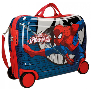 Troler copii MARVEL Spiderman Comic, 50 cm, albastru-rosu