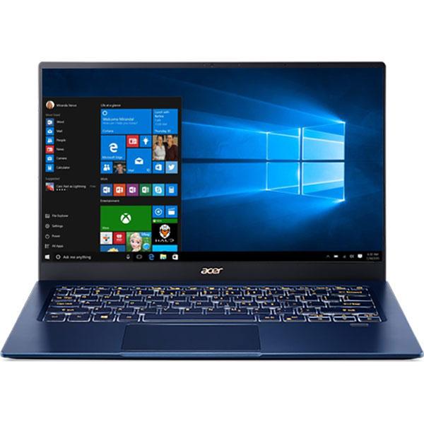 "Laptop ACER Swift 5 SF514-54T-77XV, Intel Core i7-1065G7 pana la 3.9GHz, 14"" Full HD, 8GB, SSD 1TB, Intel Iris Plus Graphics, Windows 10 Home, albastru"