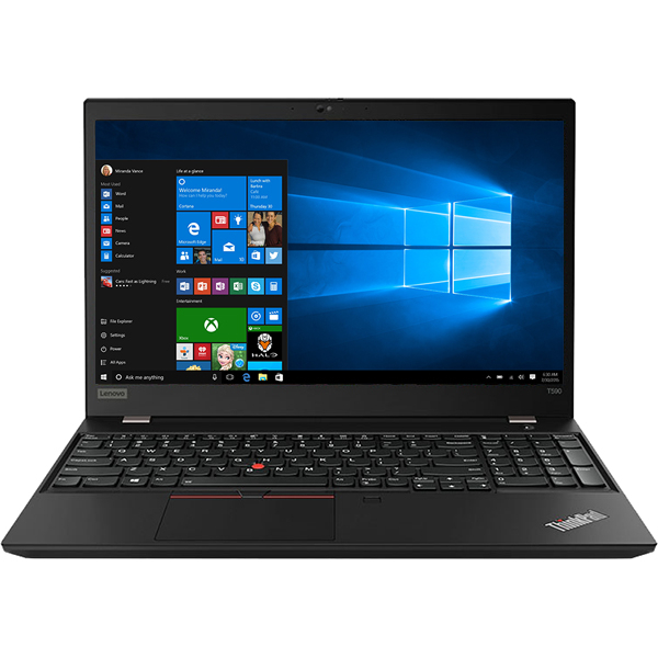 "Laptop LENOVO ThinkPad T590, Intel® Core™ i5-8265U pana la 3.9GHz, 15.6"" Full HD, 8GB, SSD 512GB, Intel UHD Graphics 620, Windows 10 Pro, Negru"