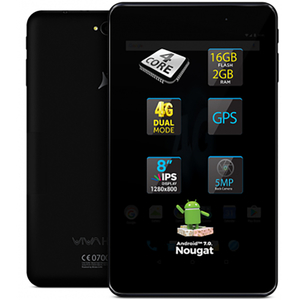 "Tableta ALLVIEW Viva H802 LTE, 8"", 16GB, 2GB RAM, Wi-Fi + 4G, Black"