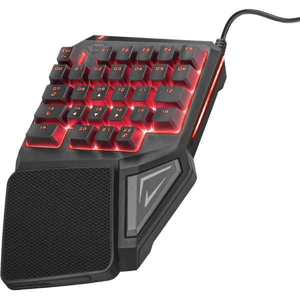 Tastatura Gaming TRUST GTX 888 Assa, USB, negru