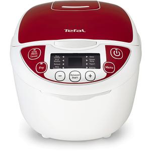 Multicooker TEFAL Fuzzy Logic RK705, 5l, 600W, 10 programe, alb - rosu