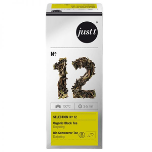 Ceai JUST T NO. 12 Organic Black Tea Darjeeling EC306412, 25 plicuri, 37.5g