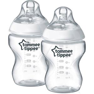 Set biberoane TOMMEE TIPPEE: 2 biberoane  340 ml, flux mediu, 3 luni +, transparent