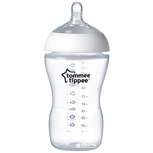 Biberon TOMMEE TIPPEE Ultra, flux mediu, 3 luni +, 340ml, transparent