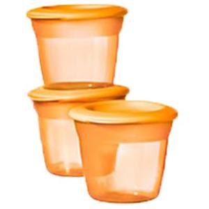 Recipiente stocare hrana TOMMEE TIPPEE, 4 luni +, 3 buc, portocaliu