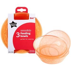 Set castroane TOMMEE TIPPEE Essential, 6 luni +, 3 buc, portocaliu