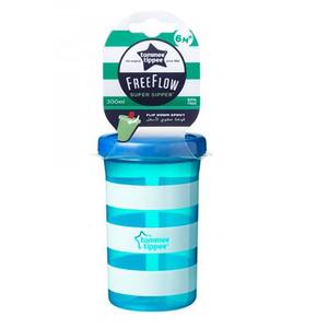 Cana TOMMEE TIPPEE Super Sipper, 6 luni +, 300 ml, albastru