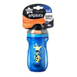 Cana cu pai TOMMEE TIPPEE Explora, 12 luni +, 260 ml, albastru