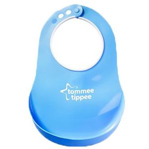 Baveta TOMMEE TIPPEE Comfy Neck, 6 luni +, albastru deschis