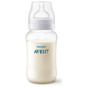 Biberon PHILIPS AVENT SCF816/17, flux mediu, 3 luni +, 330ml, transparent