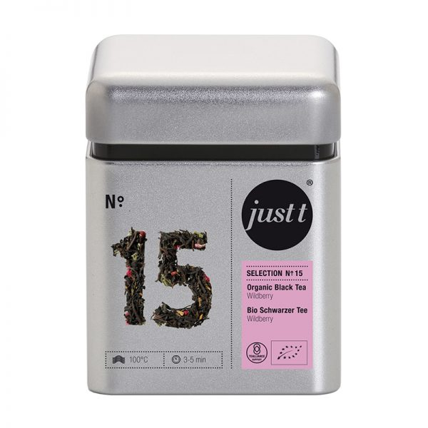 Ceai JUST T NO. 15 Organic Black Tea Wildberry BK306015, 100g