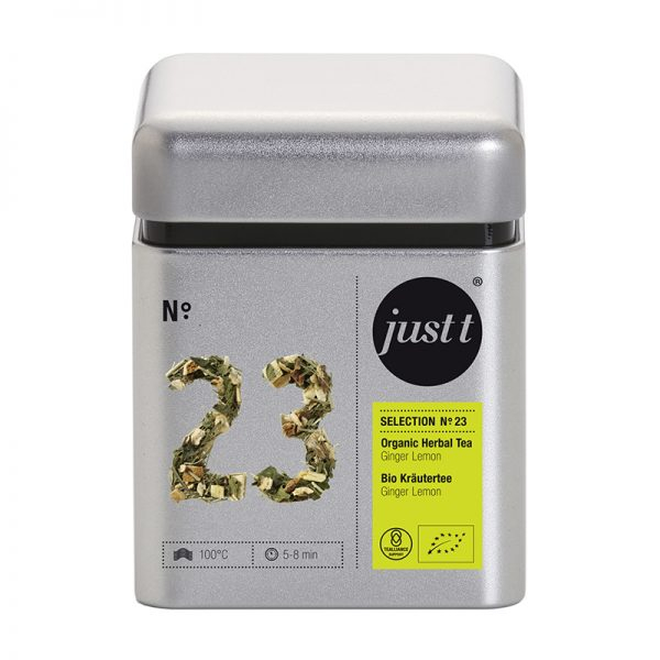 Ceai JUST T NO. 23 Organic Herbal Tea Ginger Lemon BK306023, 100g