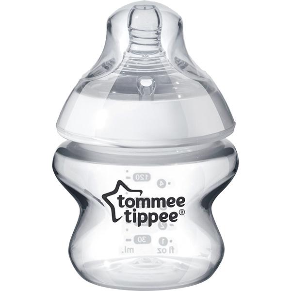 Biberon TOMMEE TIPPEE, flux extra - lent, 0 luni +, 150ml, transparent
