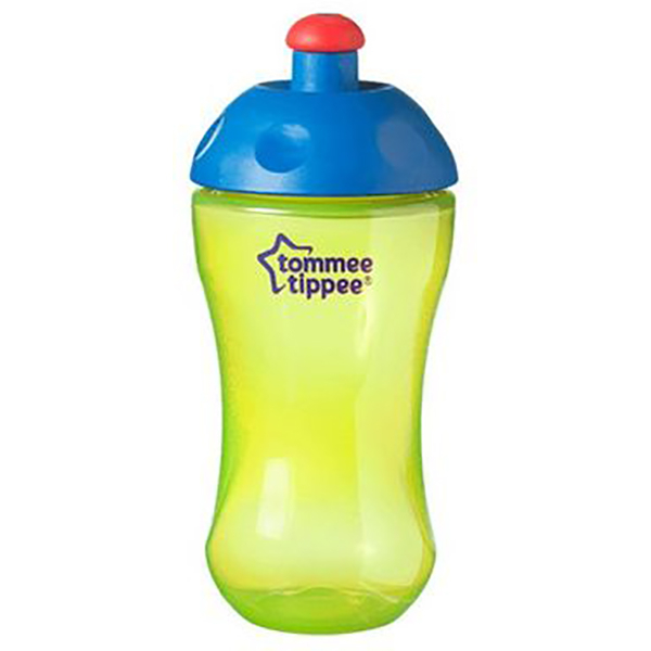 Cana TOMMEE TIPPEE Basics Sports, 12 luni +, 300ml, verde deschis