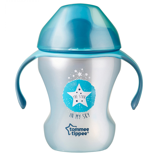 Cana TOMMEE TIPPEE Explora Easy Drink, 6 luni +, 230 ml, albastru deschis