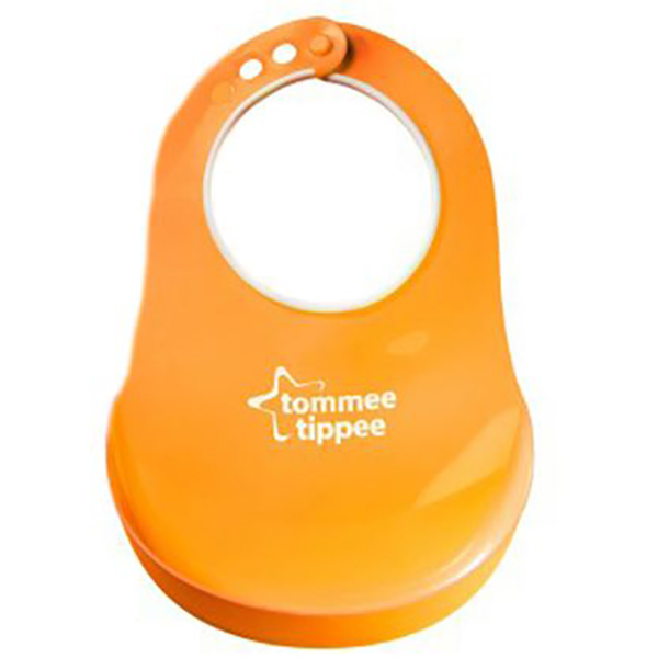Baveta TOMMEE TIPPEE Comfy Neck, 6 luni +, portocaliu