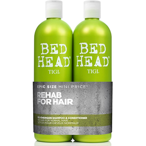 Pachet promo TIGI Bed Head Re-energize: Sampon, 750ml + Balsam de par, 750ml