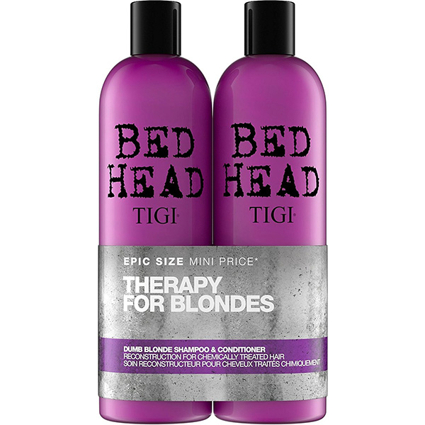 Pachet promo TIGI Bed Head Dumb Blonde: Sampon, 750ml + Balsam de par, 750ml