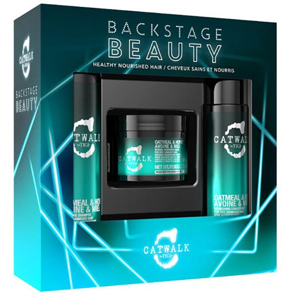 Set cadou TIGI Catwalk Backstage Beauty: Sampon, 250ml + Balsam de par, 200ml + Masca pentru par, 200ml