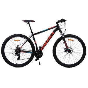 "Bicicleta Mountain Bike Omega Thomas 2018, 27.5"", negru-albastru-portocaliu"