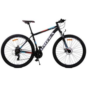 "Bicicleta Mountain Bike Omega Thomas 2018, 27.5"", 49cm, negru-portocaliu-alb"