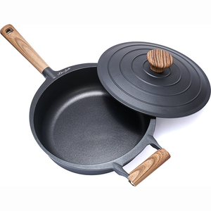 Tigaie HEINNER Taste of Home by Chef Sorin Bontea HR-RH-SJ2328, 28cm, aluminiu, negru