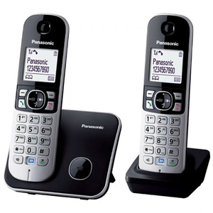 Telefon fix PANASONIC KX-TG6812FXB, DECT, Negru