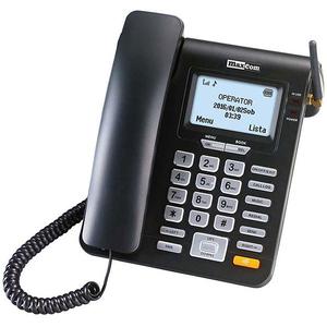Telefon fix cu SIM MAXCOM MM28DHS DECT, 2G, negru