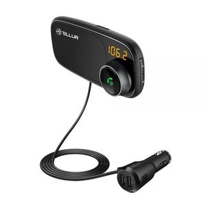Modulator FM TELLUR TLL171082, Bluetooth, MicroSD, USB, negru