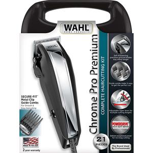 Aparat de tuns WAHL Chromepro Premium 79520-5316, retea, 1.5-25 mm, negru